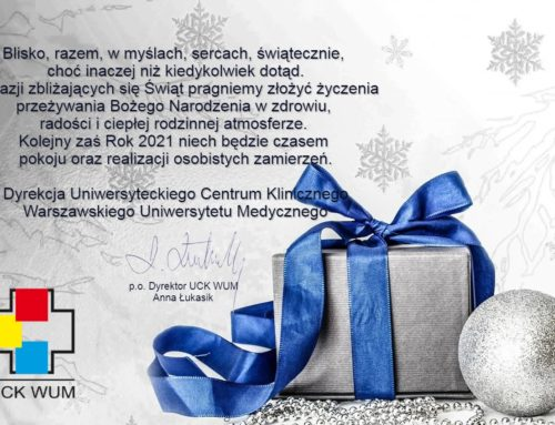 Życzenia z okazji zbliżających się Świąt Bożego Narodzenia oraz Nowego Roku