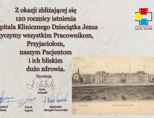 120 rocznica istnienia Szpitala Klinicznego Dzieciątka Jezus